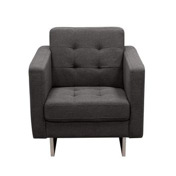 Opus Tufted Chair Grey Fabric