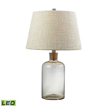 D137-LED Clear Glass Bottle LED Table Lamp With Cork Neck - Free Shipping!