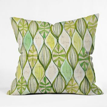 Cori Dantini Green Throw Pillow