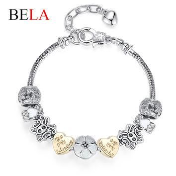 2015 New Designs European Style Butterfly Charms 925 Sliver Jewelry Fit Pandora Bracel
