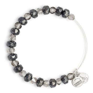 Graphite Tinsel Beaded Bangle