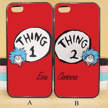 Thing 1 and Thing 2,Best Friend couple cases,iPod 5,iPhone 5s/ 5c/5/4S/4 ,Samsung Galaxy S3/S4/S5/S3 mini/S4 mini/S4 active/Note 2/Note 3