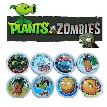 45 pcs/lot Cartoon Circle Card Dragon Ball Plants vs Zombies Action Figures Ect Round Paper Collection Card Kid Gift Toy