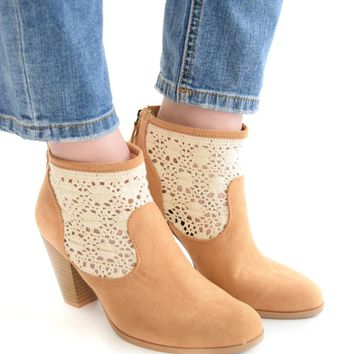 In The Garden Crochet Bootie