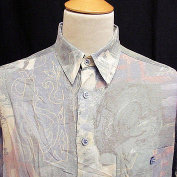 Retro 90's Amazing Crazy Pattern Shirt M