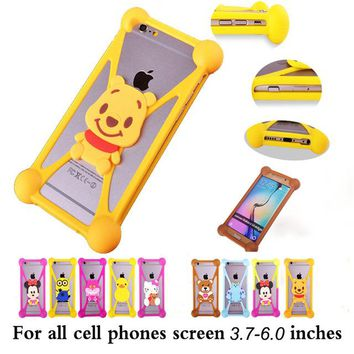 Cute Cartoon hello kitty Batman Stitch SpongeBob Cover Cases For Alcatel One Touch Idol 2 mini S X+ PIXI 2 POP C2 C9 7047 D1 D3