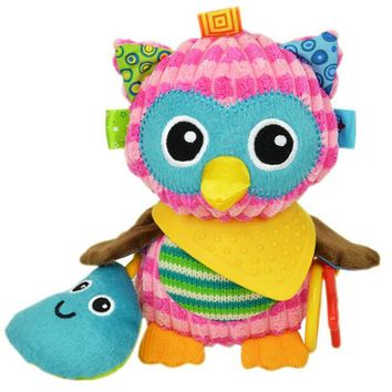 Sozzy Cute Gift Plush Soft Toy Animal owl toy with Sound Paper and Teether Baby Kid Child Girls Christmas Gifts 20% off