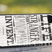 Sherlock Holmes quote - iPhone 4/4s/5/5s/5c Case - Samsung Galaxy S3/S4 - Blackberry z10 Case - Black or White