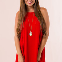Lexington Dress in Red