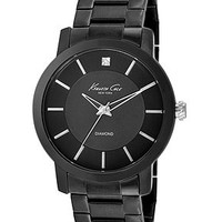 Kenneth Cole New York Watch, Men's Diamond Accent Black Ion-Plated Stainless Steel Bracelet 44mm KC9286 - All Watches - Jewelry & Watches - Macy's