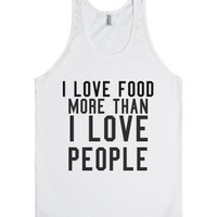 I love FOOD-Unisex White Tank
