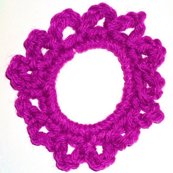 Scrunchies, Ponytail holders hand crocheted