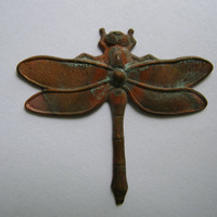 Aged brass dragon fly dragonfly findings lot,stamping,,vintage jewelry supply,destash,brass