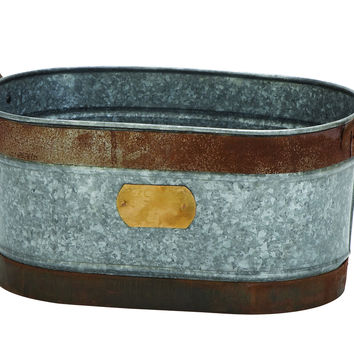 """Party Metal Ice Bucket 18""""W, 9""""H"""