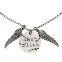 Doctor Who Don't Blink Necklace