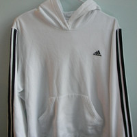 crisp white adidas warm up hoodie