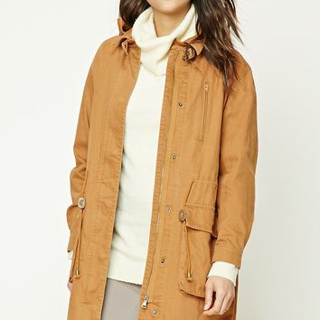 Buckle-Neck Utility Jacket