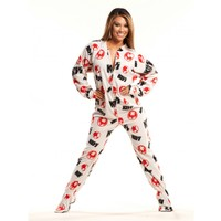 KISS Strutter White Classic Adult Pajamas | World's Best PJ Store