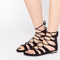 Truffle Collection | Truffle Collection Gladiator Flat Sandals at ASOS