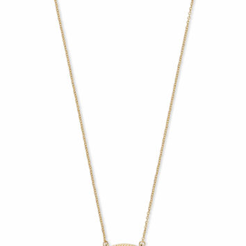 Ember Gold Pendant Necklace in Pink Rhodonite | Kendra Scott