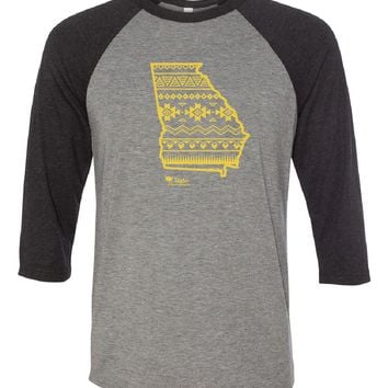 Georgia Simple Aztec Gold Baseball Tee