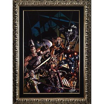 Dark Avengers #10 - Limited Edition Artist Proof Giclee on Canvas by Mike Deodato and Marvel Comics Hand Signed by Stan Lee