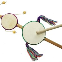 Junior Triple Spin Drum from Peru - Handmade Musical Instrument