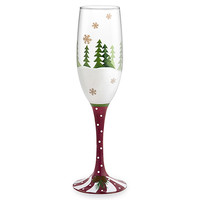 Timberland Hand-Decorated Champagne Flute