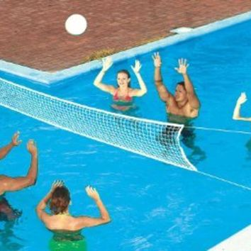 In Ground Pool Volleyball Game