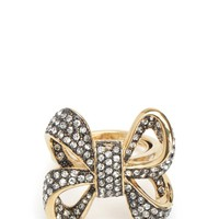 Oversize Pave Bow Ring by Juicy Couture