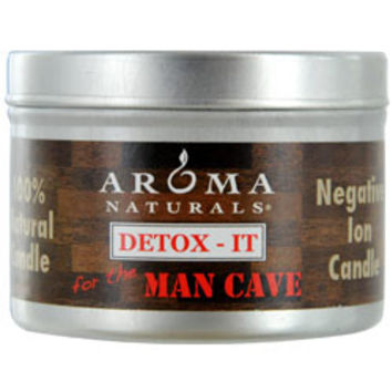 DETOX-IT AROMATHERAPY ONE 2.5x1.75 inch SOY/BEESWAX BLEND AROMATHERAPY CANDLE FOR THE MAN CAVE. REBALANCE ROOM ODORS WITH NATURAL BEESWAX, SUNFLOWER, SOY & RICE BRAN WAX.  BURNS APPROX. 15 HRS. UNISEX