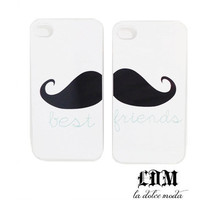 moustache BEST FRIENDS CASE 1 for you 1 for your bestie put it together to make an awesome mustache iPhone 4 iPhone 5 galaxy s3