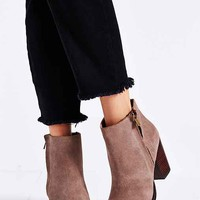 Silence + Noise Half Stacked Welt Suede Boot- Taupe