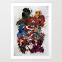 Avengers Assemble! Art Print by Melissa Smith