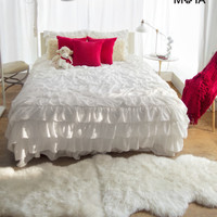 Ruffle Duvet Twin Bedding Set -