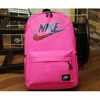 NIKE 2018 New Sports Backpack Backpack Men and women Schoolbag F-A30-XBSJ rose red