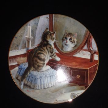 Victorian Cat Capers Collector Plate