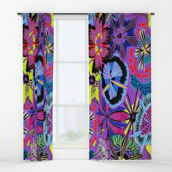 Anemones Window Curtains by Azima