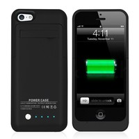 Slim Power Bank Charger Case iPhone 5 backup battery case