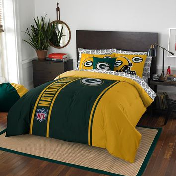 Green Bay Packers NFL Full Comforter Bed in a Bag (Soft & Cozy) (76in x 86in)