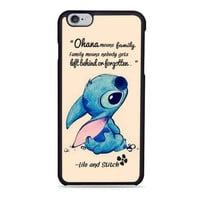 lilo and stitch ohana quote Iphone 6 Cases