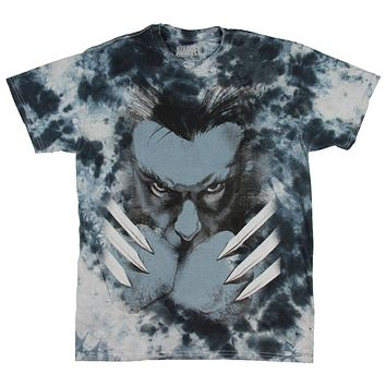 Marvel Men's Wolverine Here's Looking At You Bub Bleached T-Shirt