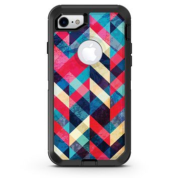 Angled Colored Pattern - iPhone 7 or 8 OtterBox Case & Skin Kits
