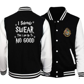 Trendy I Solemnly Swear That I Am Up To No Good Print Jackets Men 2018 Hot Sale Sweatshirt Men's Sportswear Jackets Harajuku Hip Hop AT_94_13