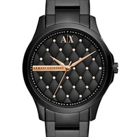 Women's AX Armani Exchange Quilted Dial Bracelet Watch, 36mm - Black (Online Only)