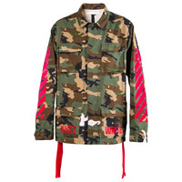 OFF-WHITE c/o Virgil Abloh Embroidered Camouflage Field Jacket (Green) – RSVP Gallery