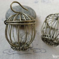 1 pc of Antique Bronze Huge Bird Cage Pendant 30x43mm A6488 – VeryCharms