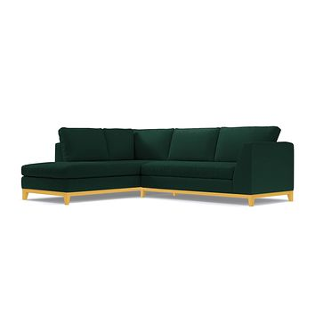 Mulholland Drive 2pc Sectional Sofa :: Leg Finish: Natural / Configuration: LAF - Chaise on the Left
