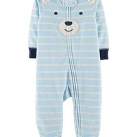 Bear Zip-Up Fleece Sleep & Play