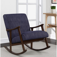 Retro Indigo Wooden Rocker | Overstock.com Shopping - The Best Deals on Living Room Chairs